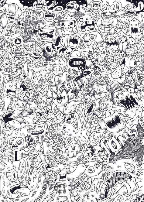 doodle drawing pdf doodle monsta by redstar94 on deviantart