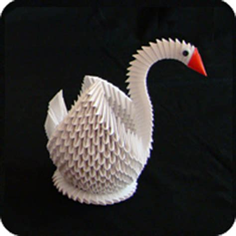 How To Make A Origami Swan 3d - more origami make origami