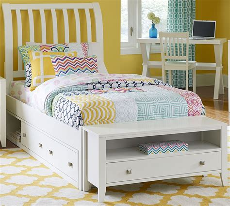 white twin bed with storage pulse white rake twin sleigh bed with storage from ne kids coleman furniture