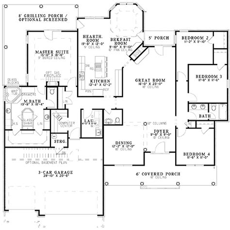 Plan 59436nd French Classic Ranch Home Plan French Ranch House Plans With Mudroom