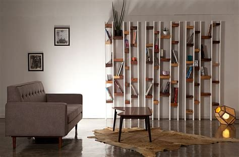 modern bookcase design from recycled wood decoist