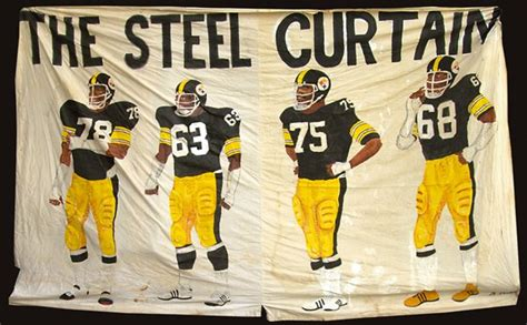 pittsburgh steelers behind the steel curtain iconic steel curtain banner brings 57 500