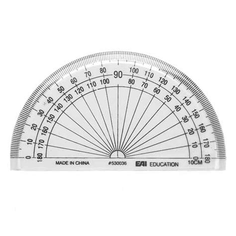 printable protractor small 4 quot protractor clear set of 10 measurement data