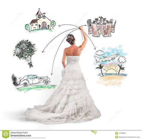Hochzeit Organisieren by Organisieren Einer Hochzeit Stock Abbildung Illustration