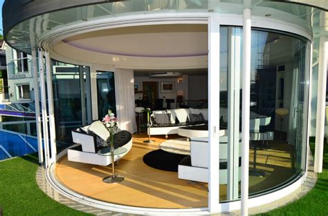 Curved Patio Doors Curved Sliding Glass Doors Curved Sliding Glass Doors With Panoramic Views Products And
