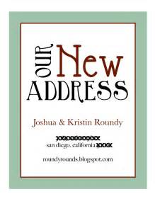 address cards templates doc 555584 change of address template bizdoska