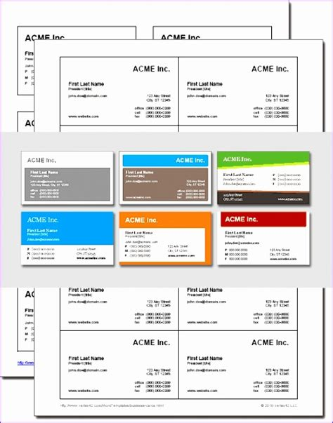 Ms Word Business Card Template Software by 14 Microsoft Excel Business Card Template Exceltemplates