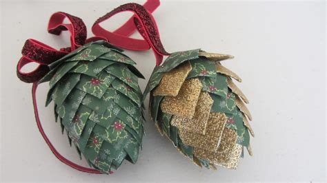 Ornaments With Paper - paper pinecone ornament styrofoam egg shape