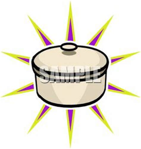 a colorful of a sparkling clean cooking pot royalty free clipart picture