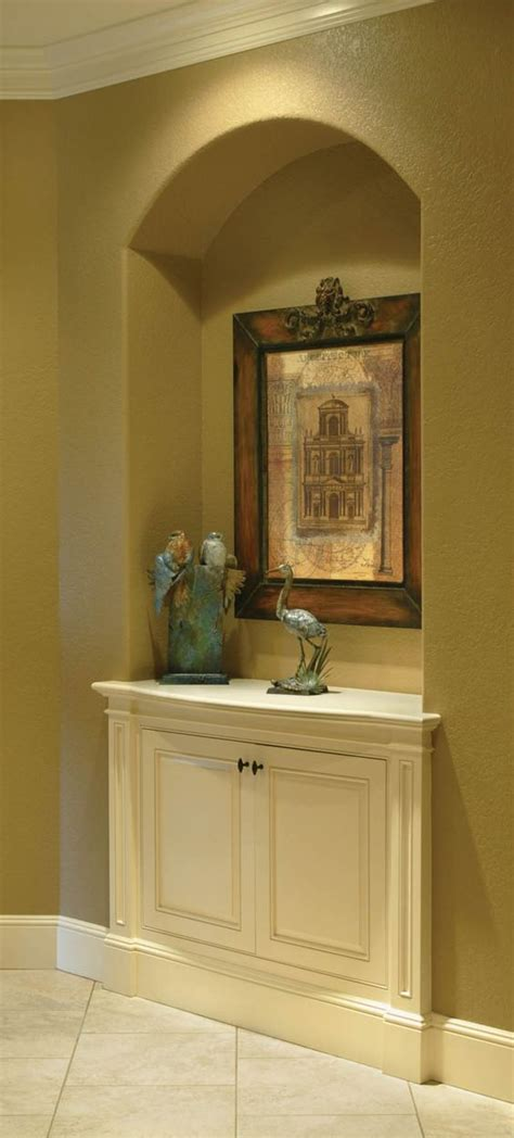 Niche Cabinets by Built In Niche With Cabinet Below Neat Idea Luxury