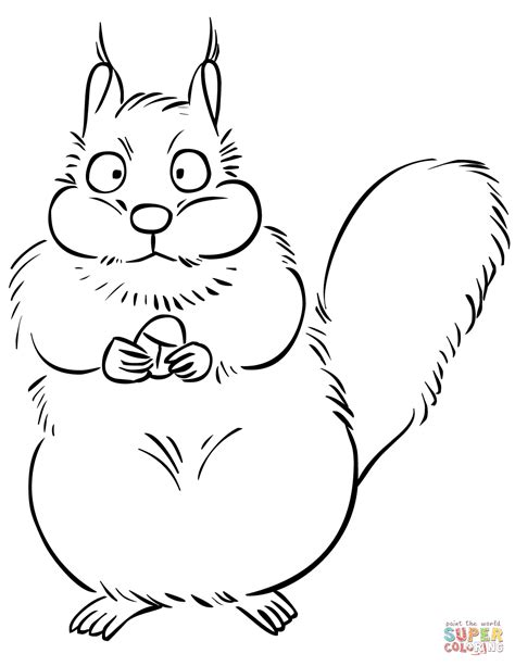 acorn coloring pages squirrel with acorn coloring page free printable
