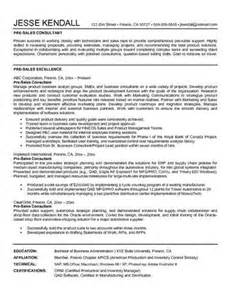Automotive Sales Consultant Sle Resume by Sales Consultant Resume Sle