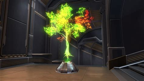 hologram tree holographic tree green decoration swtor strongholds