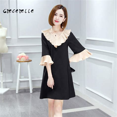 Dress Style Koreanstyle Diskon aliexpress buy new 2017 womens korean fashion dress pleated collar tide