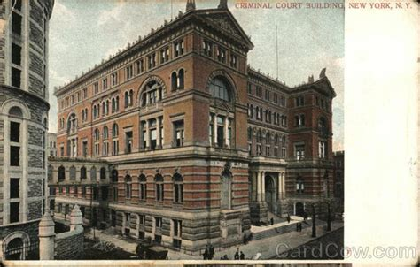 New York Search Judiciary Criminal Criminal Court Building New York Ny Postcard