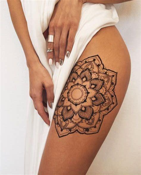 thigh mandla henna tattoo divine henna pinterest 17 best ideas about mandala thigh tattoo on pinterest