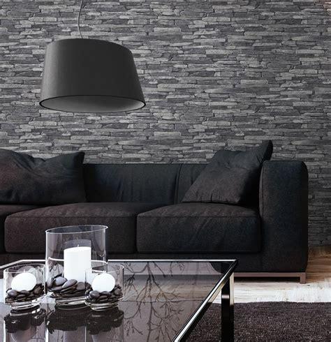 Tapeten Wohnzimmer Grau skifer grau