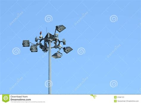 sky flood lights outdoor security lights stock image image 31387721