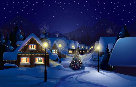 christmas night wallpaper siehe stadtansichten tablette