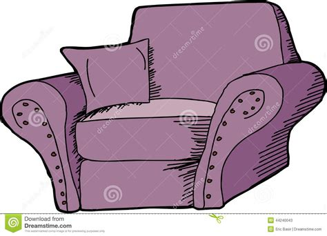 purple armchair stock vector image of background
