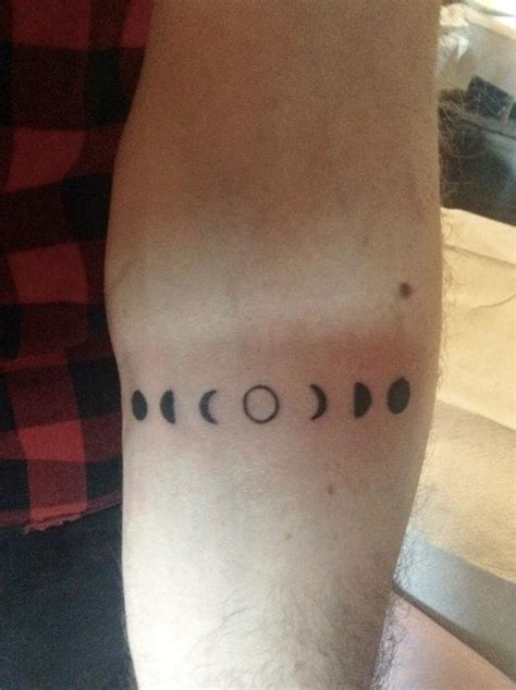 very small tattoo small moon phases on forearm by ben licata tattoonow