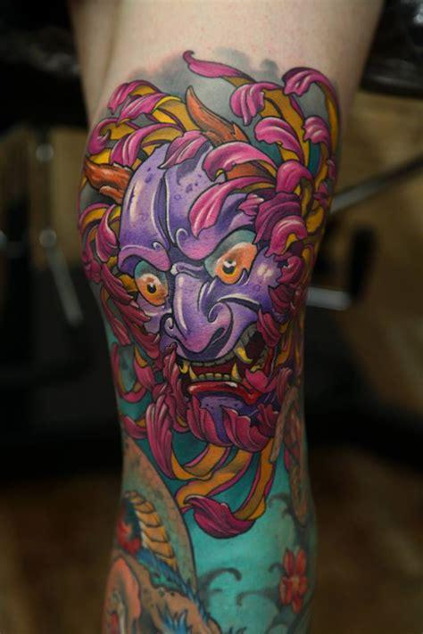 hannya mask tattoo leg hannya tattoos askideas com