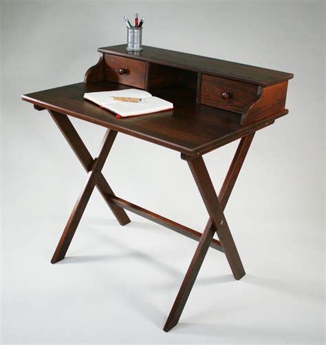 portable solid wood caign desk by manchester wood