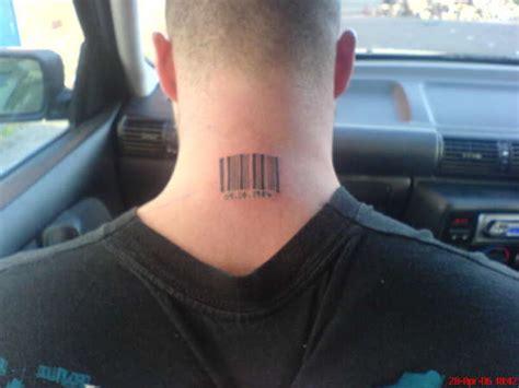 barcode tattoo neck movie barcode on neck tattoo