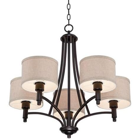 Linen Chandelier La Pointe 26 Quot Wide Oatmeal Linen Shade Chandelier Shades Ls And Products