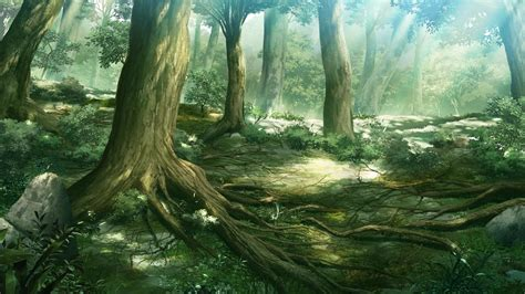 wallpaper anime photoshop anime forest backgrounds wallpaper cave