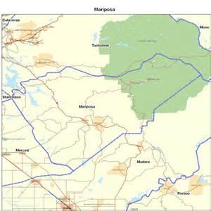 mariposa california map mariposa county ca california maps map of california