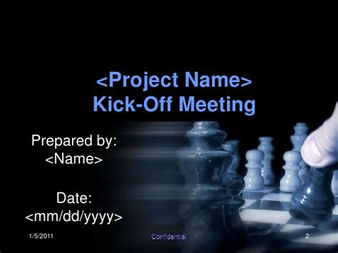 Kick Off Meeting Presentation Project Kickoff Template Presentation