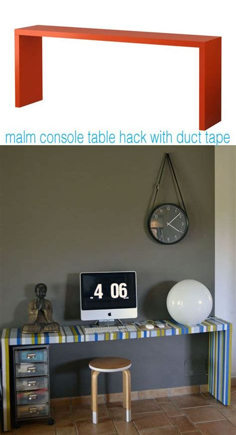 malm console ikea malm console table hacked with duct ikea hacks