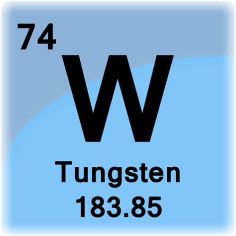 tungsten element cell science notes and projects