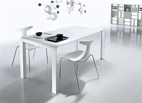 white table dining slim futuristic tables from kreaty digsdigs