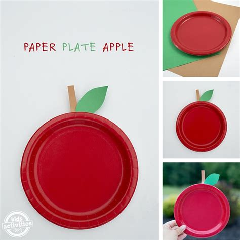 Paper Plate Apple Craft - easy paper plate apple craft