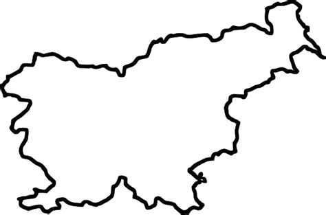 Island Outline by Map Of Slovenia In Europe Clip At Clker Vector Clip Royalty Free