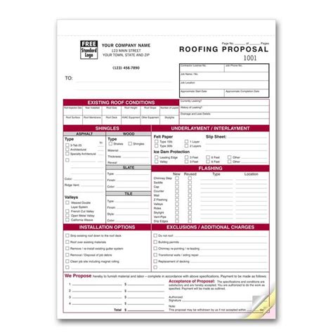 Roofing Invoice Template by Product Details Designsnprint