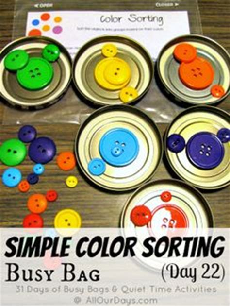 Color Sort Busy Activity For Children 365 Days Of Crafts - toddler approved shape activities for preschoolers away