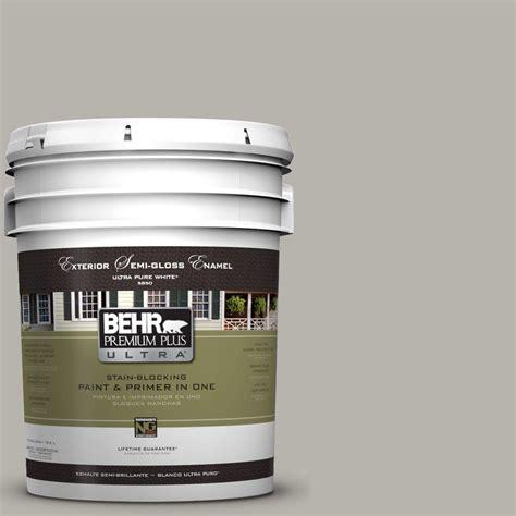 behr premium plus ultra 5 gal ul260 9 ashes semi gloss enamel exterior paint 585405 the home