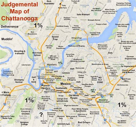 judgmental map of chattanooga chattanooga