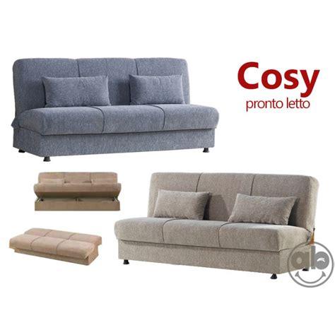 divano letto con contenitore divano letto 3 posti prontoletto in tessuto con