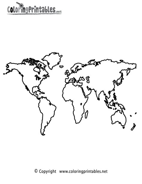 free coloring pages of world map children