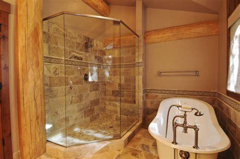 bath cabin bear creek cabin bathroom denver by mountain log