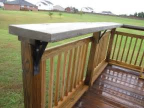 Deck Railing Bar Top by 15 Best Images About Renovations And Concrete Countertops