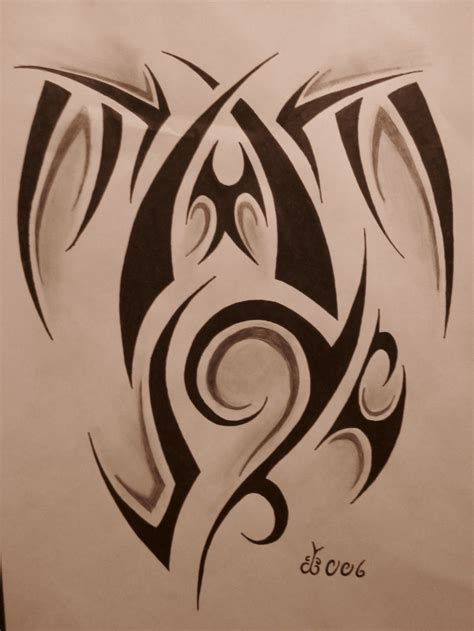 drawing of tribal tattoo tribal design 5 by blackbutterfly006 on deviantart