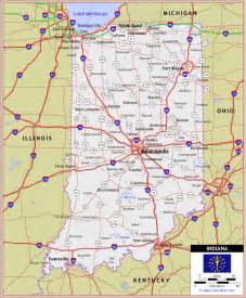 Indiana State Road Map by Indiana Highway And Road Map Southern Indiana