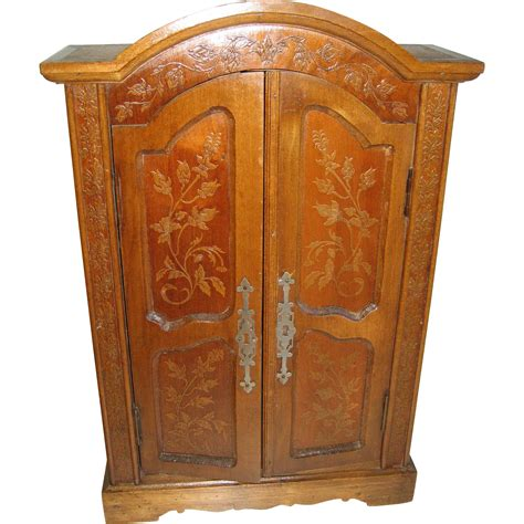 decorative armoires antique doll french miniature decorative armoire from