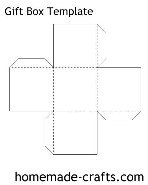 Papercraft Gift Box Templates - paper box pattern crafts