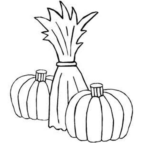 corn stalk template cornstalk and two pumpkins coloring page